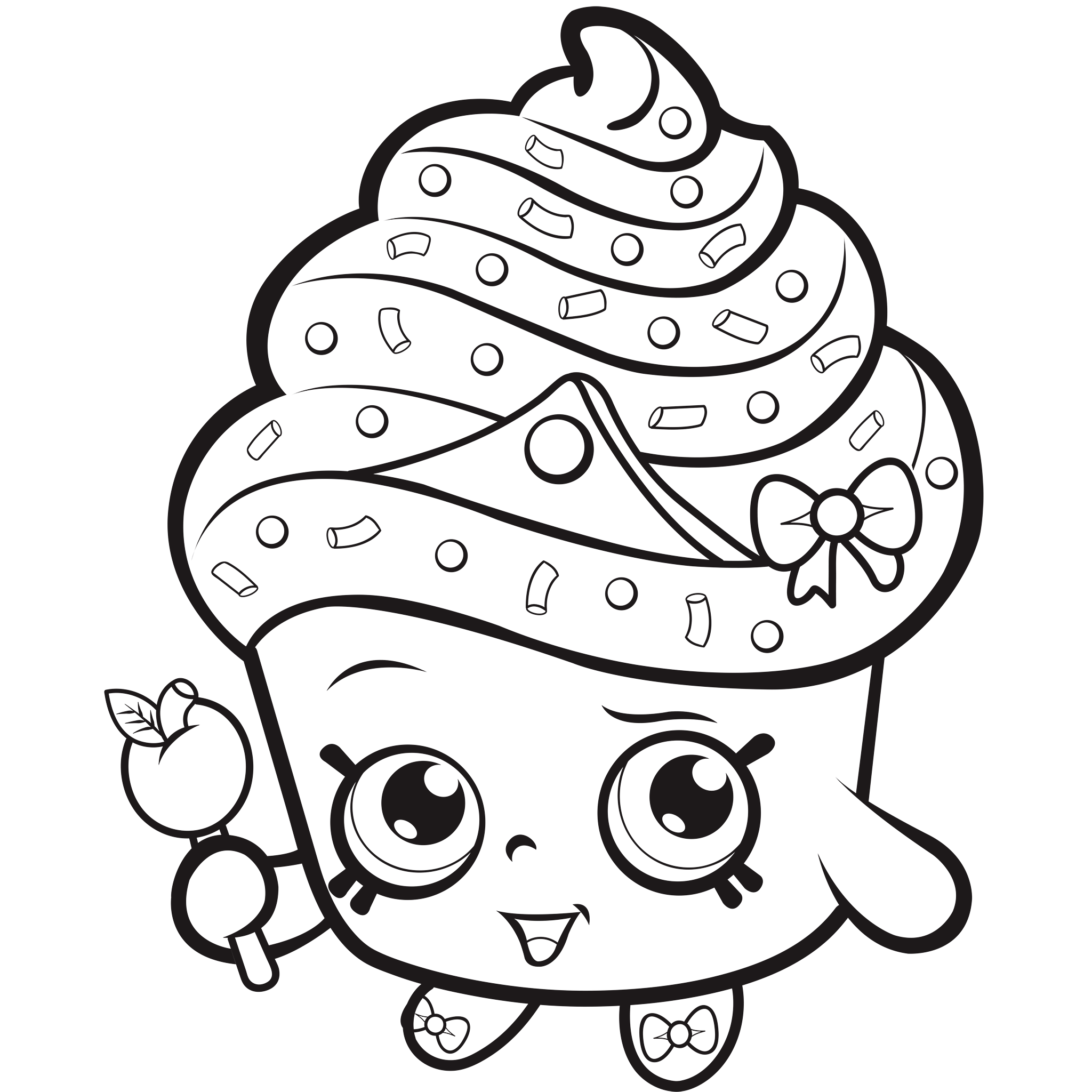 2048x2048 New Print Bubbleisha Shopkins Shoppies With Bubble Gum Coloring