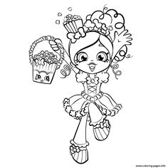 236x236 Print Bubbleisha Shopkins Shoppies With Bubble Gum Coloring Pages