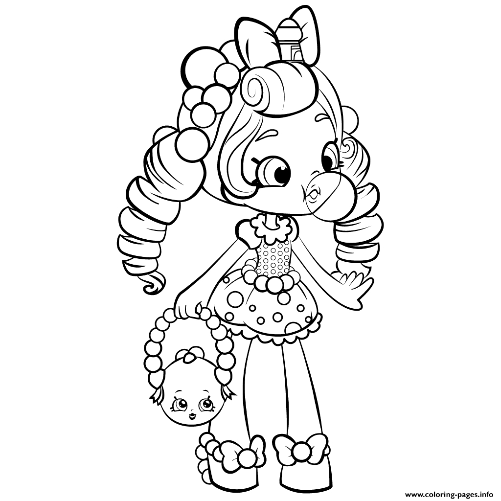 1024x1024 Shopkins Coloring Pages Dolls Bubble Gum Free