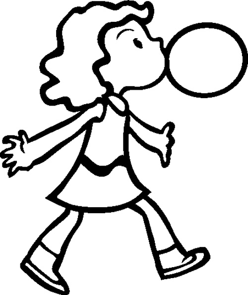 500x595 Bubble Gum Coloring Page Color Bros