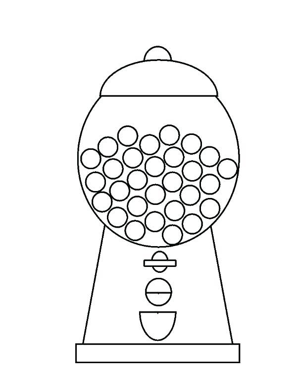 600x776 Gumball Machine Coloring Page Bubblegum Coloring Pages Bubble Gum