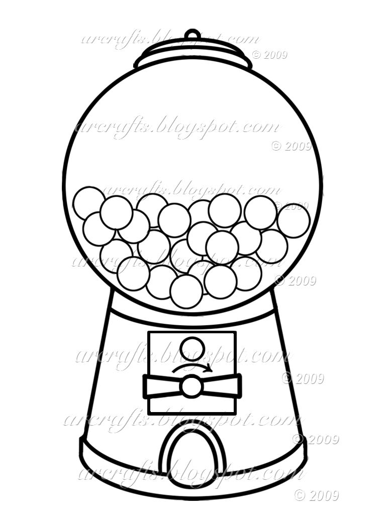 774x1050 Gumball Machine Coloring Page Picture I'm Going Use This
