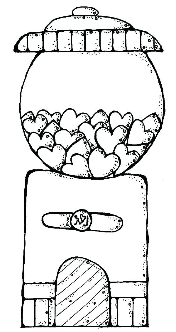 600x1133 Bubble Gum Bubble Coloring Page Bubble Gum Machine Coloring Page