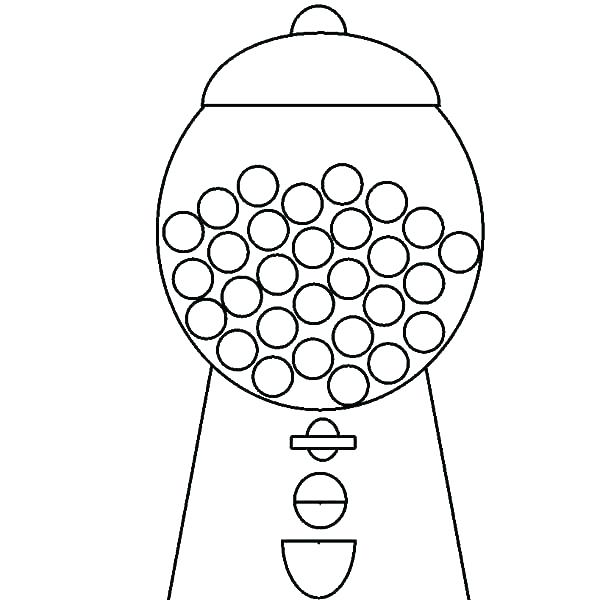 600x600 Machine Coloring Pages Bubblegum Coloring Pages Bubble Gum Machine