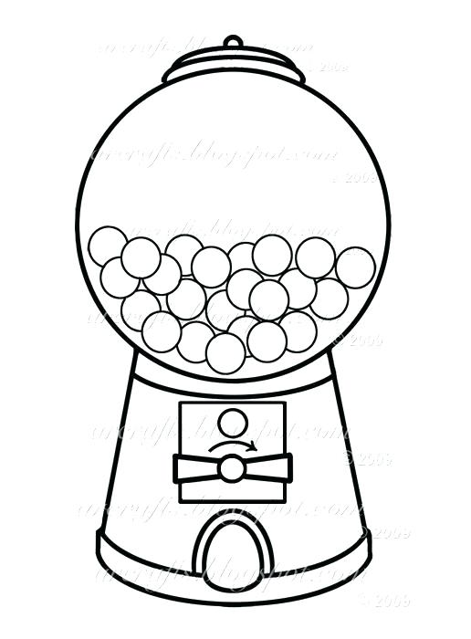 516x700 Bubble Gum Machine Coloring Page Bubble Gum Machine Coloring Page