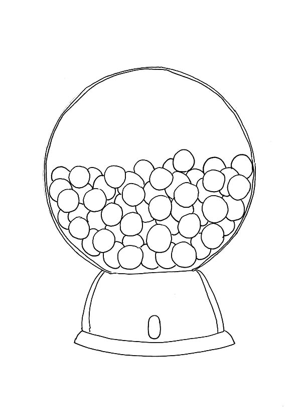 600x825 Printable Gumball Machine Coloring Pages