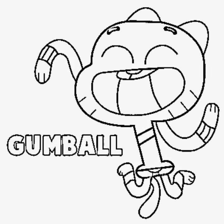 720x720 Gumball Coloring Pages Gumball Machine Coloring Page Alltoys