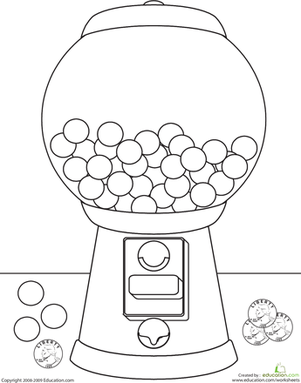 301x383 Color The Gumball Machine Worksheet