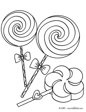 363x470 Coloriage Coloring Pages Big Lollipops