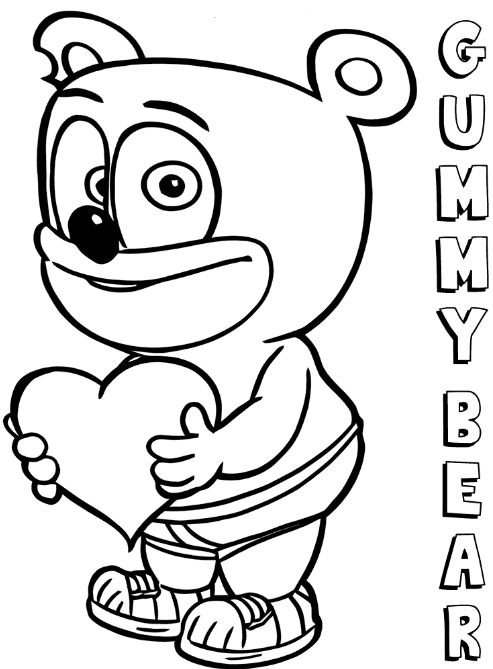 493x669 Gummy Bear Coloring Page Drawing Board Weekly