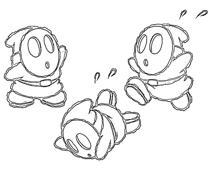 800x667 Images Of Mario Shy Guy Coloring Pages