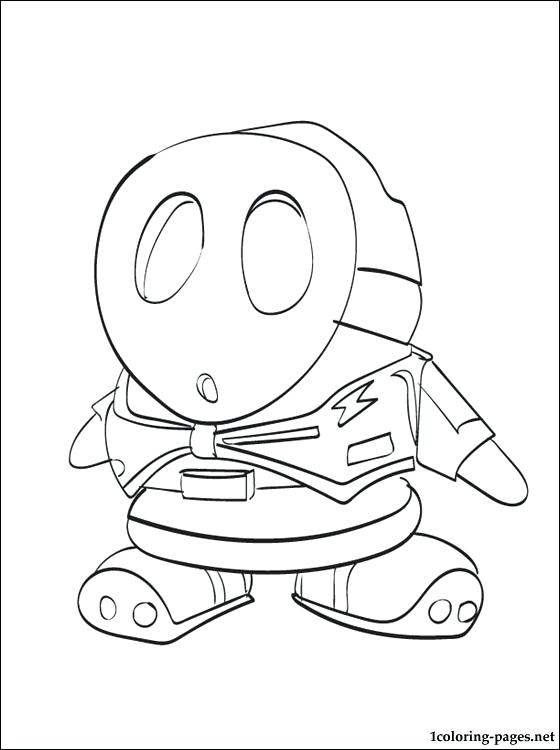 560x750 Mario Color Pages Shy Guy Coloring Page To Print Free Mario Color