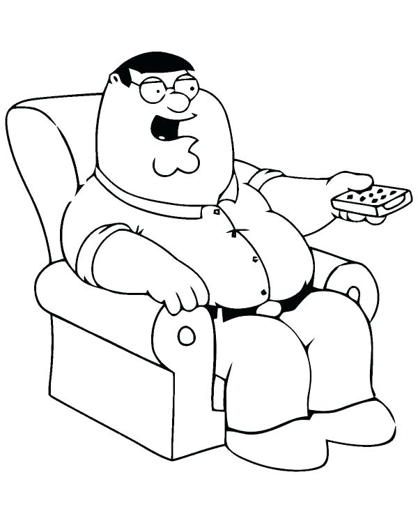 600x750 Top Family Guy Coloring Pages Kids Peter Griffin Online Top