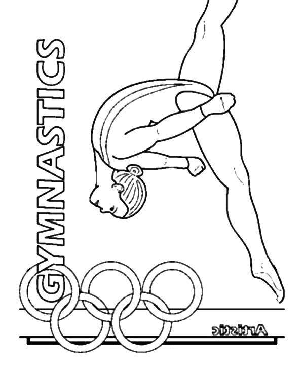 600x734 Gymnastic Coloring Pages Gymnastic Coloring Pages Coloring Pages