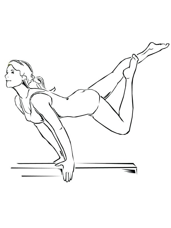 600x800 Gymnastics Coloring Page Children S With Gymnastic Pages