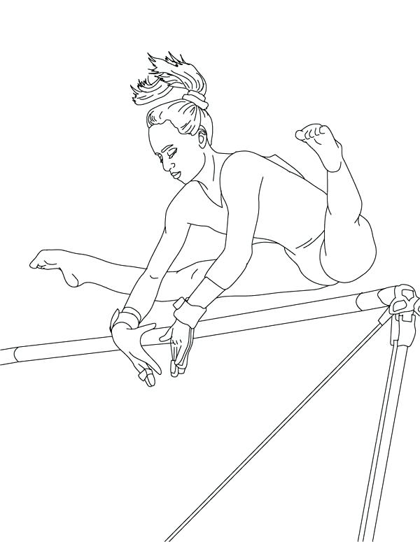 Gymnastics Coloring Pages At Getdrawings Com Free For Personal Use