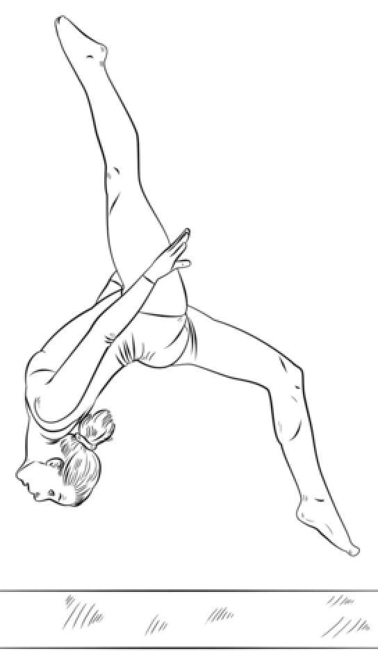 544x960 Gymnastics Coloring Pages