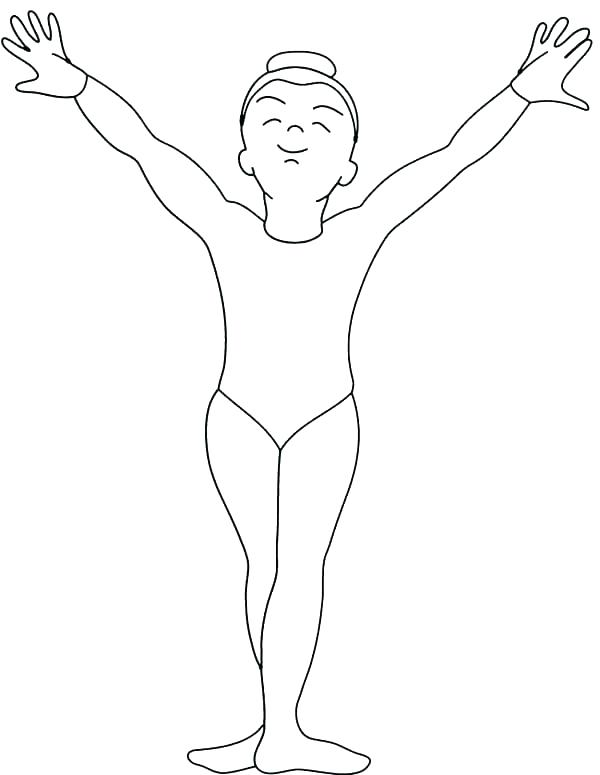 600x775 Printable Gymnastics Coloring Pages Gymnastics G Page Pages