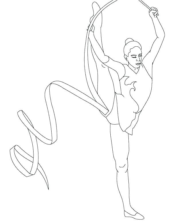 600x775 Gymnastics Coloring Pages Printable