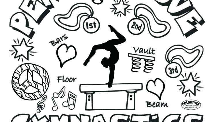 750x425 Coloring Pages I Love Gymnastics Coloring Pages Gymnastics