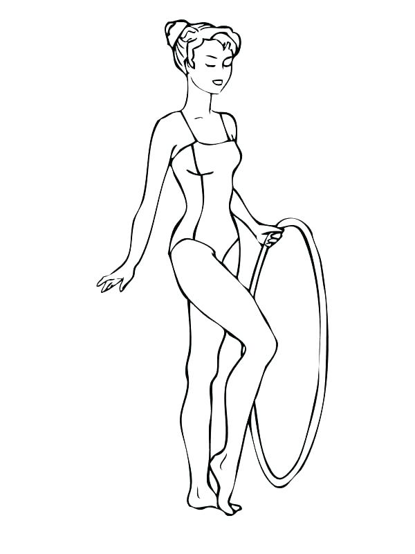 600x800 Gymnastic Coloring Pages Printable Gymnastics Coloring Pages