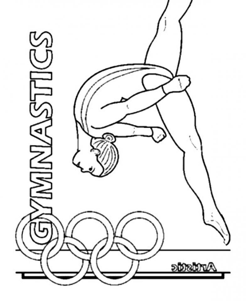 784x960 Gymnastics Coloring Pages