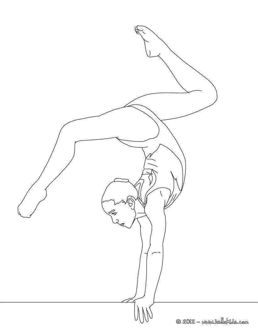 821x1061 Balance Beam Artistic Gymnastics Coloring Page Line Work