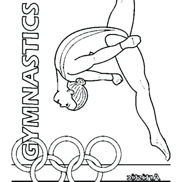 600x600 Gymnastics Coloring Pages Printable Coloring Pictures