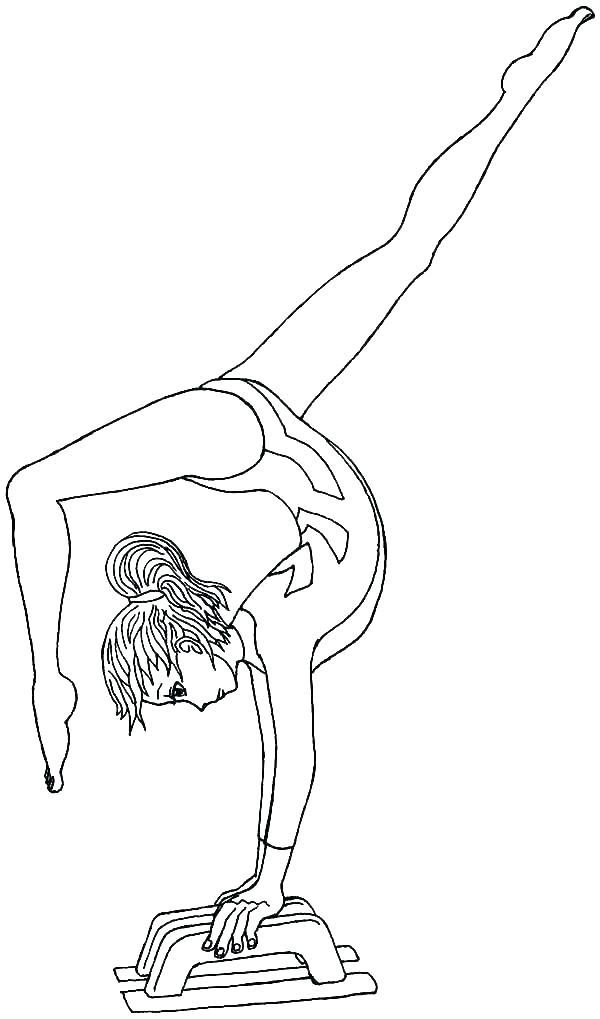 600x1019 Gymnastics Coloring Sheets Gymnastics Coloring Page I Love Pages