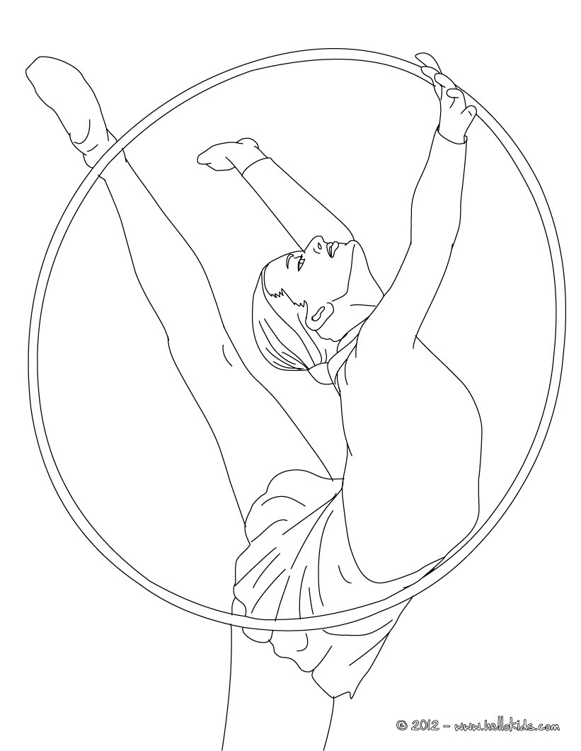821x1061 Hoop Individual All Around Rythmic Gymnastics Coloring Pages