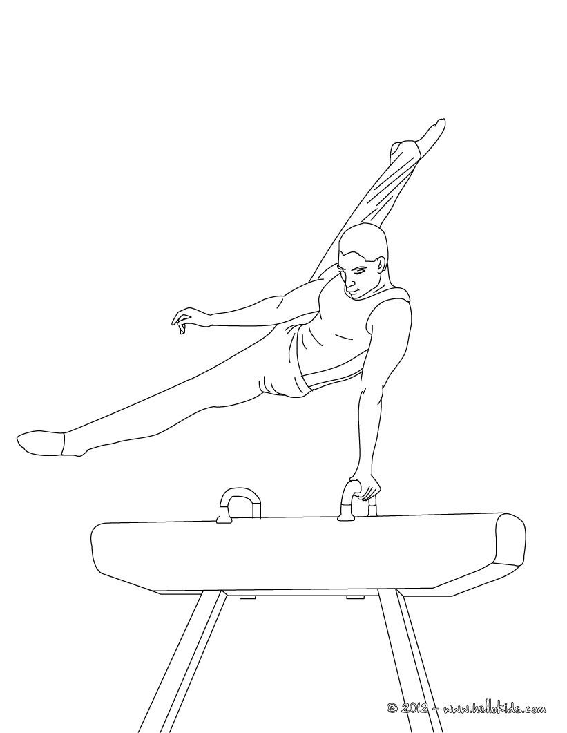 821x1061 Gymnastics Coloring Pages