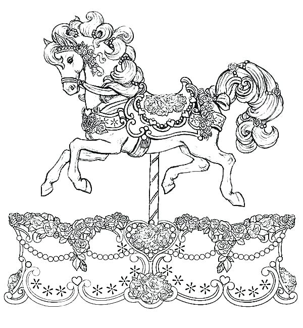 600x648 Gypsy Coloring Pages Carousel Horse Coloring Pages Carousel