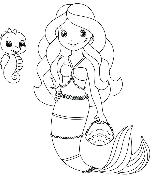 590x700 Coloring Pages Merman Colouring Pages Free Just Add Water