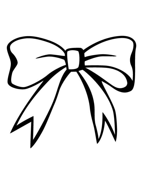 612x792 Bow Coloring Pages Luxury Hair Bow Clip Art