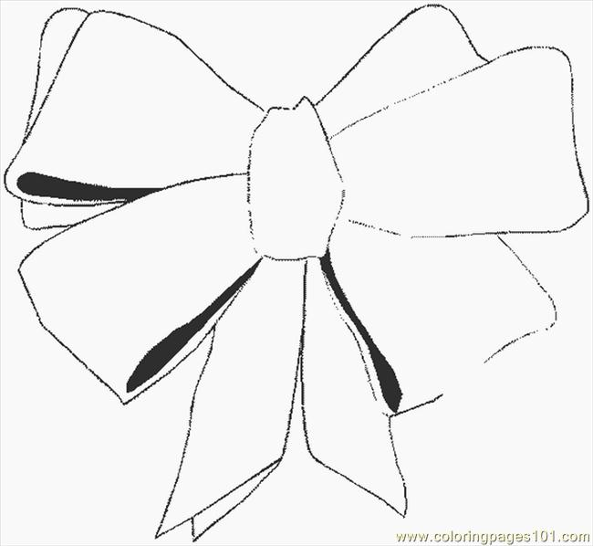 650x598 Bows Coloring Pages