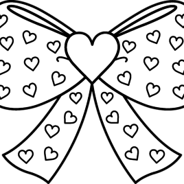 268x268 Hair Bow Coloring Sheets