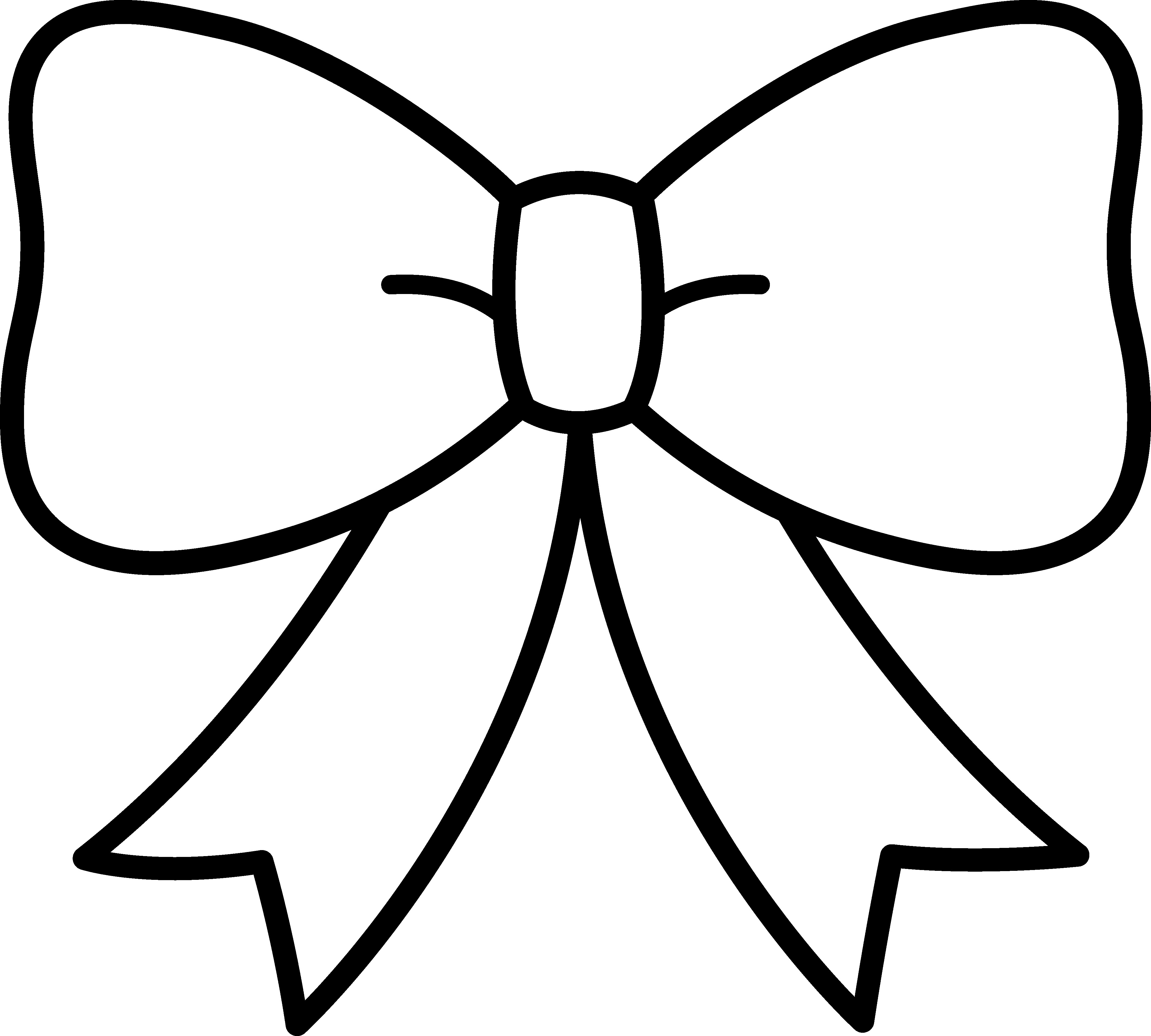 4216x3795 Black And White Bow Design
