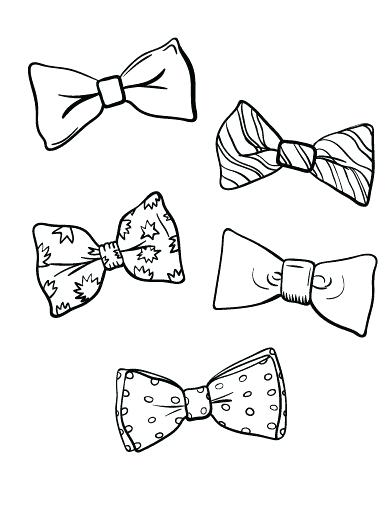 392x507 Printable Bow Tie Coloring Page Free Download At Free Coloring