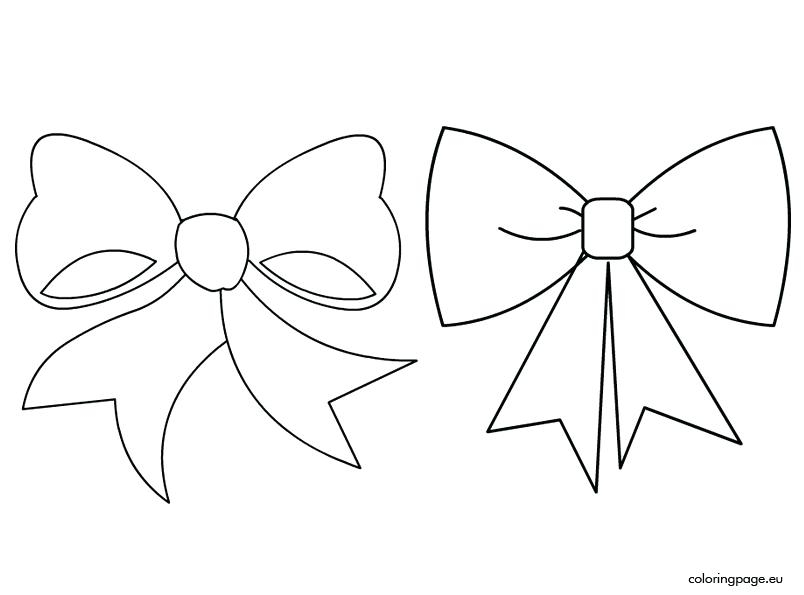 804x595 Bow Coloring Pages Printable Coloring Page