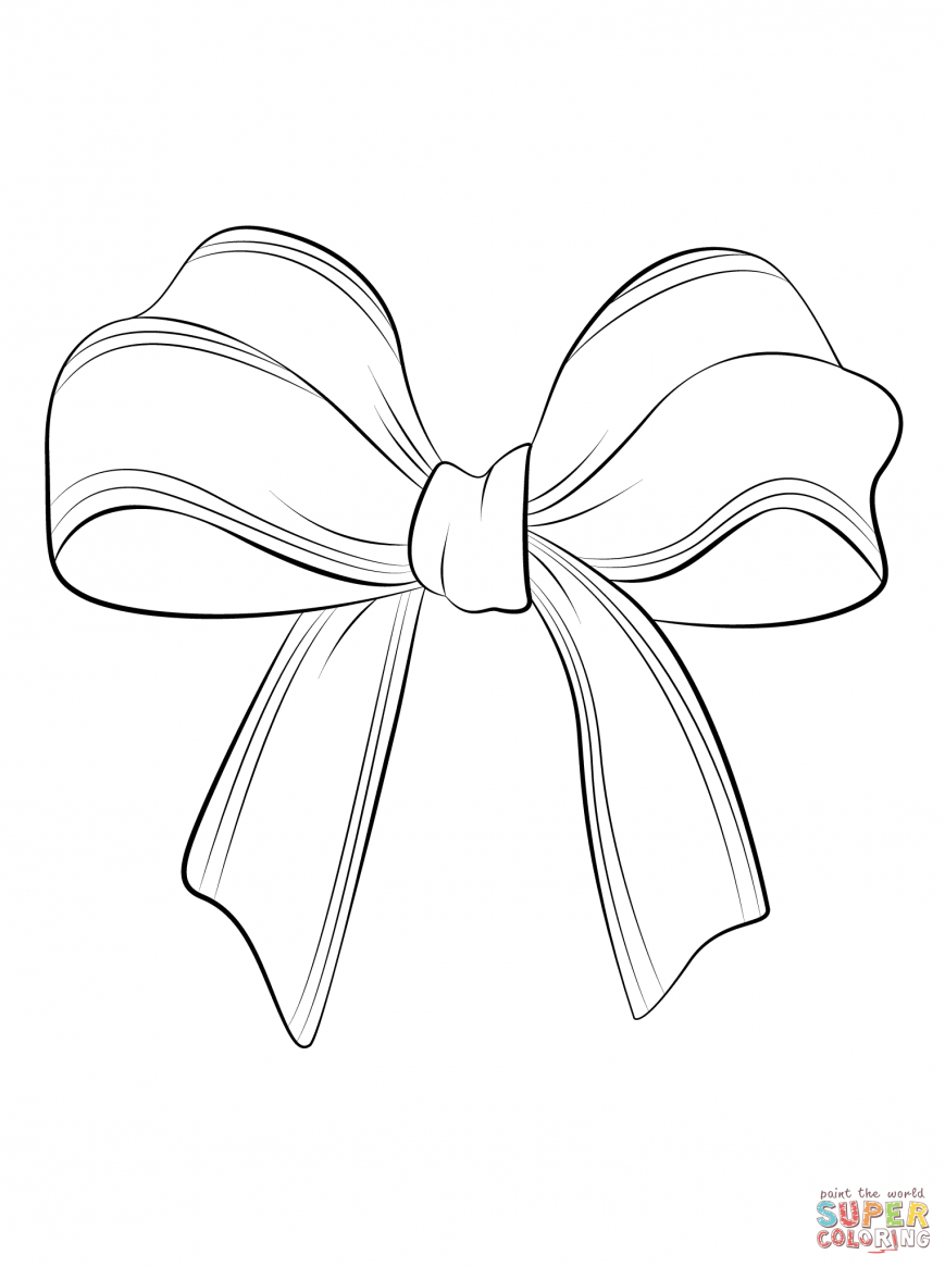 869x1165 Bow Coloring Pages Cute Tie Colouring Christmas And Arrows Page