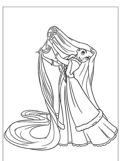 400x529 Free Tangled Coloring Pages