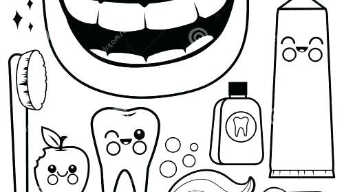 500x280 Tooth Coloring Page S Brush Fairy Pages Free Dental Sheets