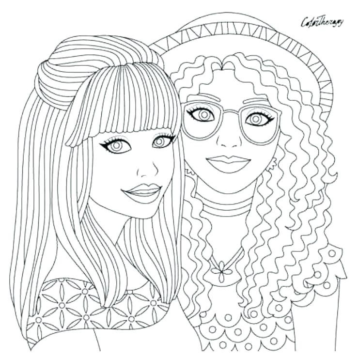 739x739 Coloring Hair Coloring Page Books Plus App Pages Free Brush Hair