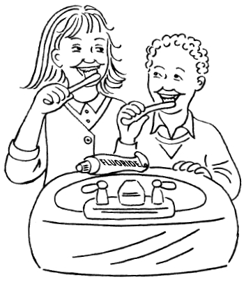 353x408 Brush Your Teeth Coloring Pages