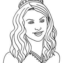 220x220 Princess Head With Twisted Hair Coloring Pages