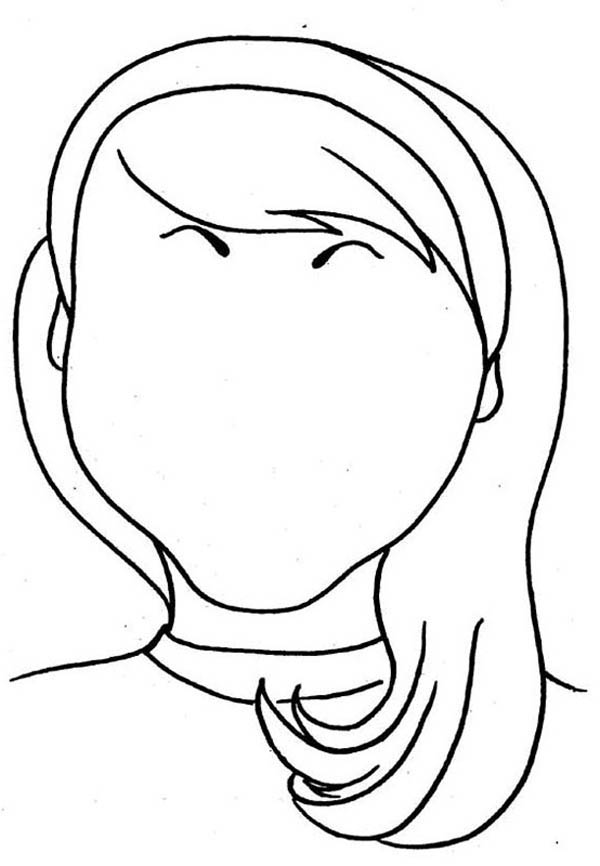 600x866 Wonderful Decoration Hair Coloring Pages Love Type Of Face