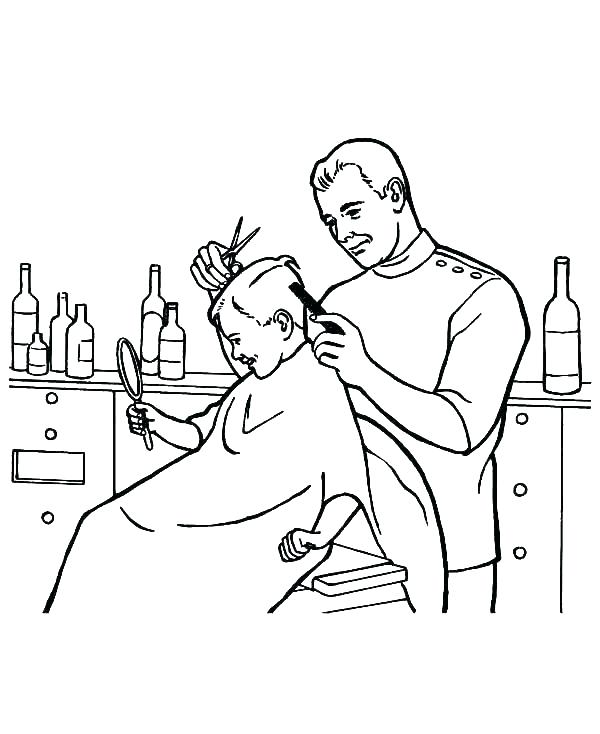 600x734 Hair Coloring Pages Jobs Coloring Pages Jobs Coloring Pages Job