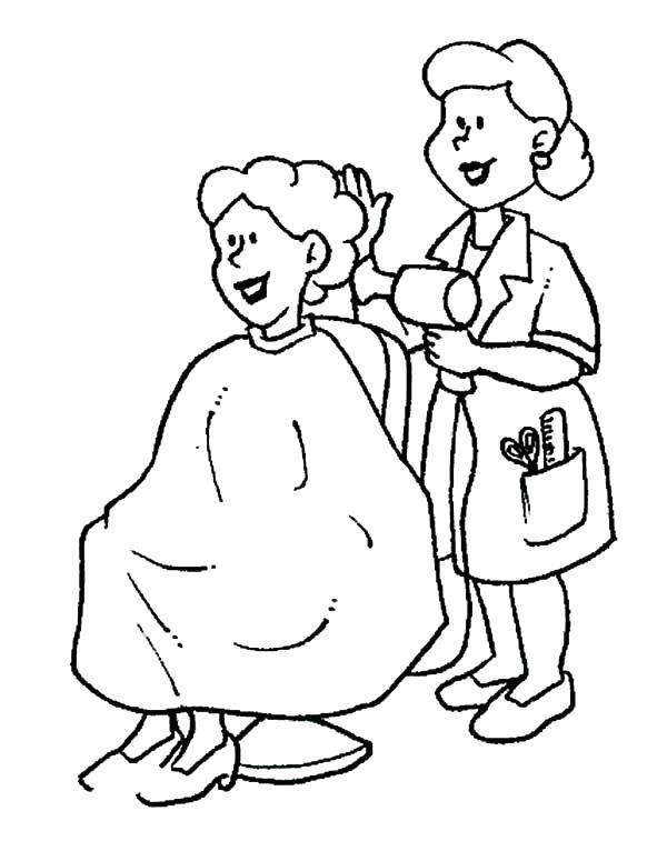 600x757 Hair Salon Coloring Pages Hair Salon Coloring Pages Leivancarvalho