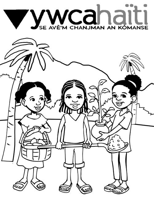 501x648 Environmental Themed Coloring Book For Haiti Haiti, Coloring
