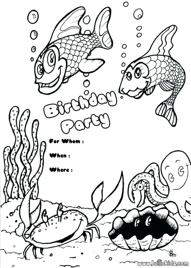 643x900 Free Printable Birthday Coloring Pages Happy Birthday Coloring